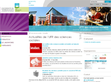 Site internet de l'UFR des sciences sociales